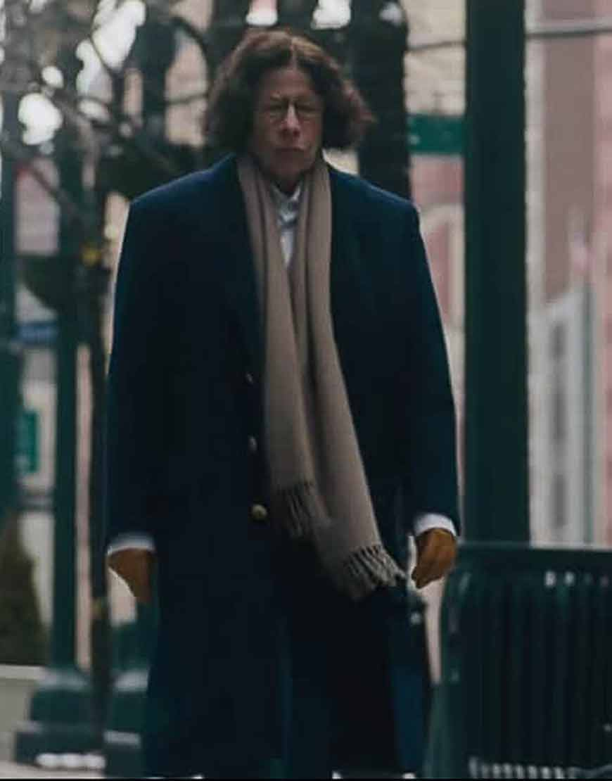 Fran-Lebowitz-Pretend-Its-a-City-Blue-Wool-Blend-Trench-Coat