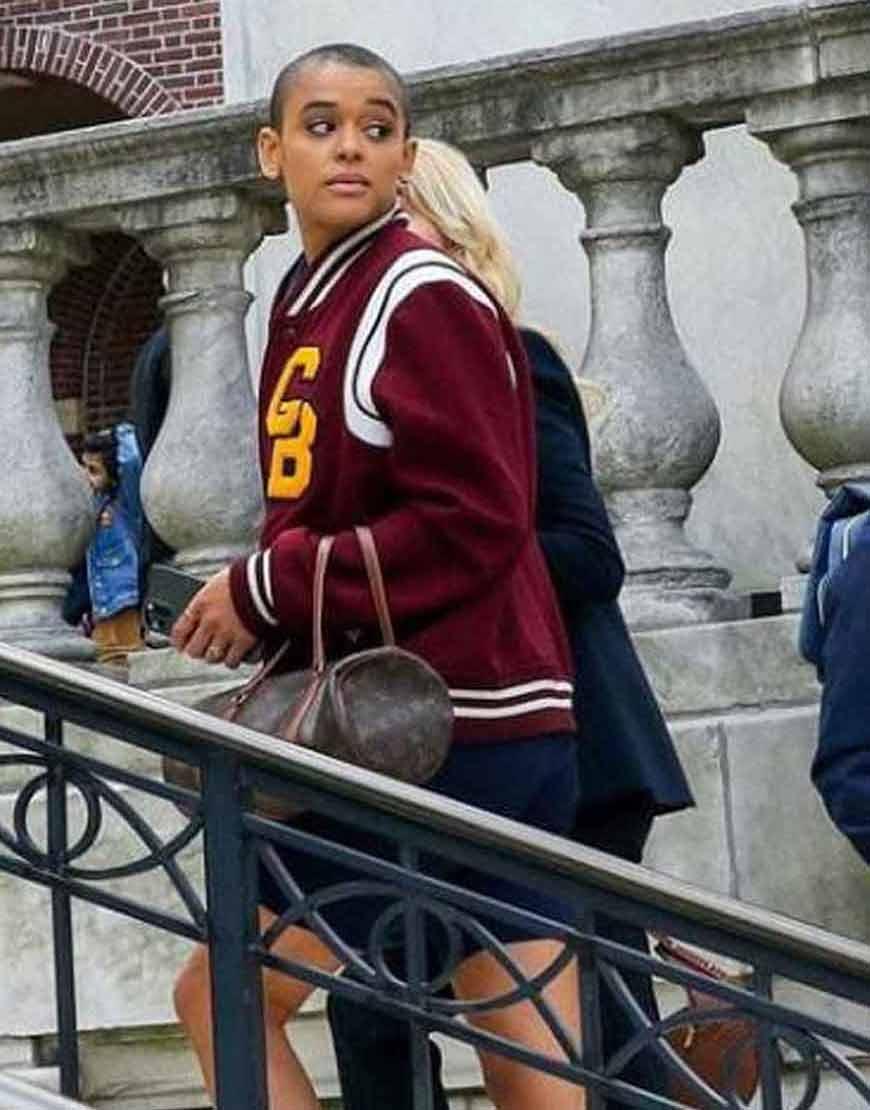 Gossip-Girl-Jordan-Alexander-Maroon-Varsity-Jacket
