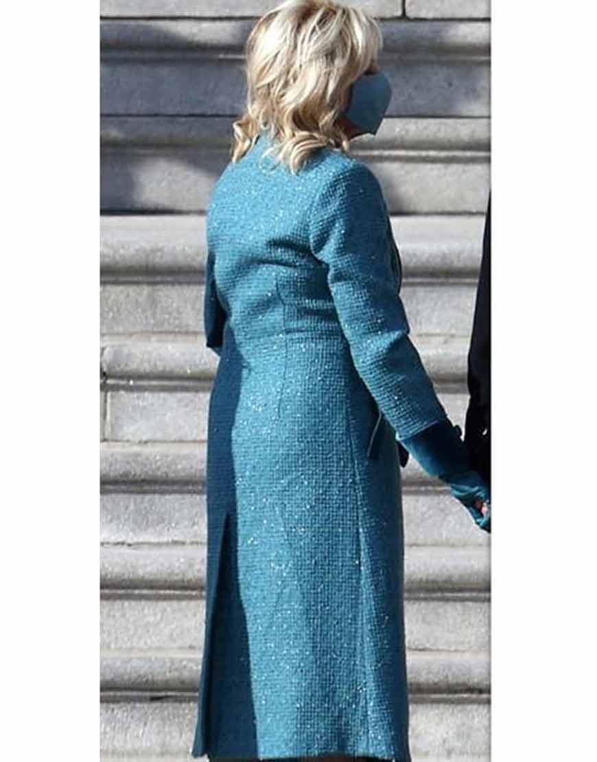 Jill-Bidens-Blue-Trench-Coat