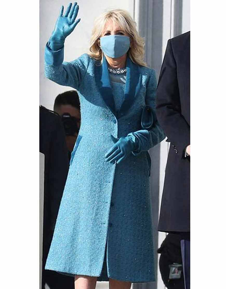 Jill-Bidens-Tweed-Blue-Trench-Coat