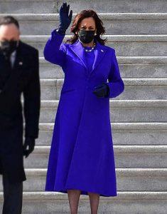 Kamala-Harris-Royal-Blue-Trench-Coat