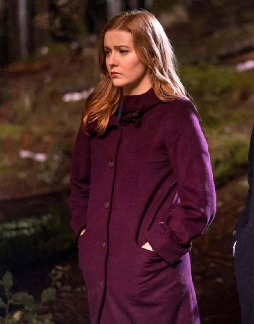 Kennedy-McMann-TV-Series-Nancy-Drew-Maroon-Trench-Coat