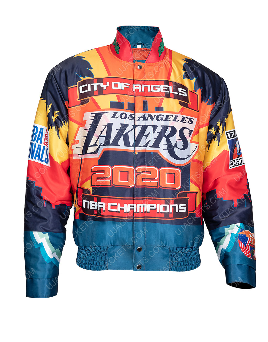 Los Angeles Lakers Jeff Hamilton 2000 Championship Leather Jacket
