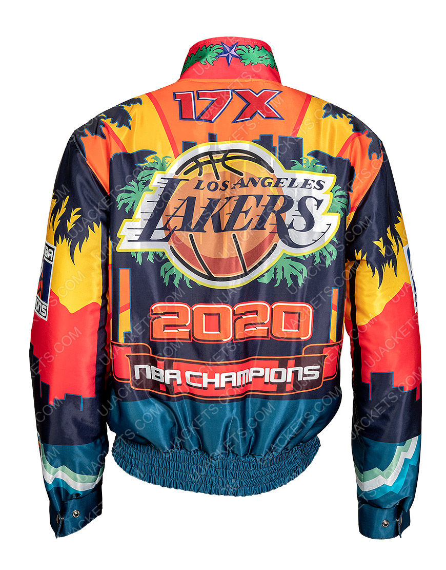 Los Angeles Lakers Jeff Hamilton Championship Leather Jacket