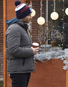 Luke-Macfarlane-Taking-a-Shot-at-Love-Puffer-Jacket