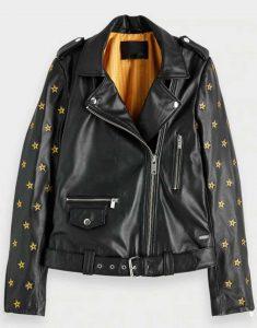 Mary-Hamilton-Gold-Star-Black-Leather-Jacket