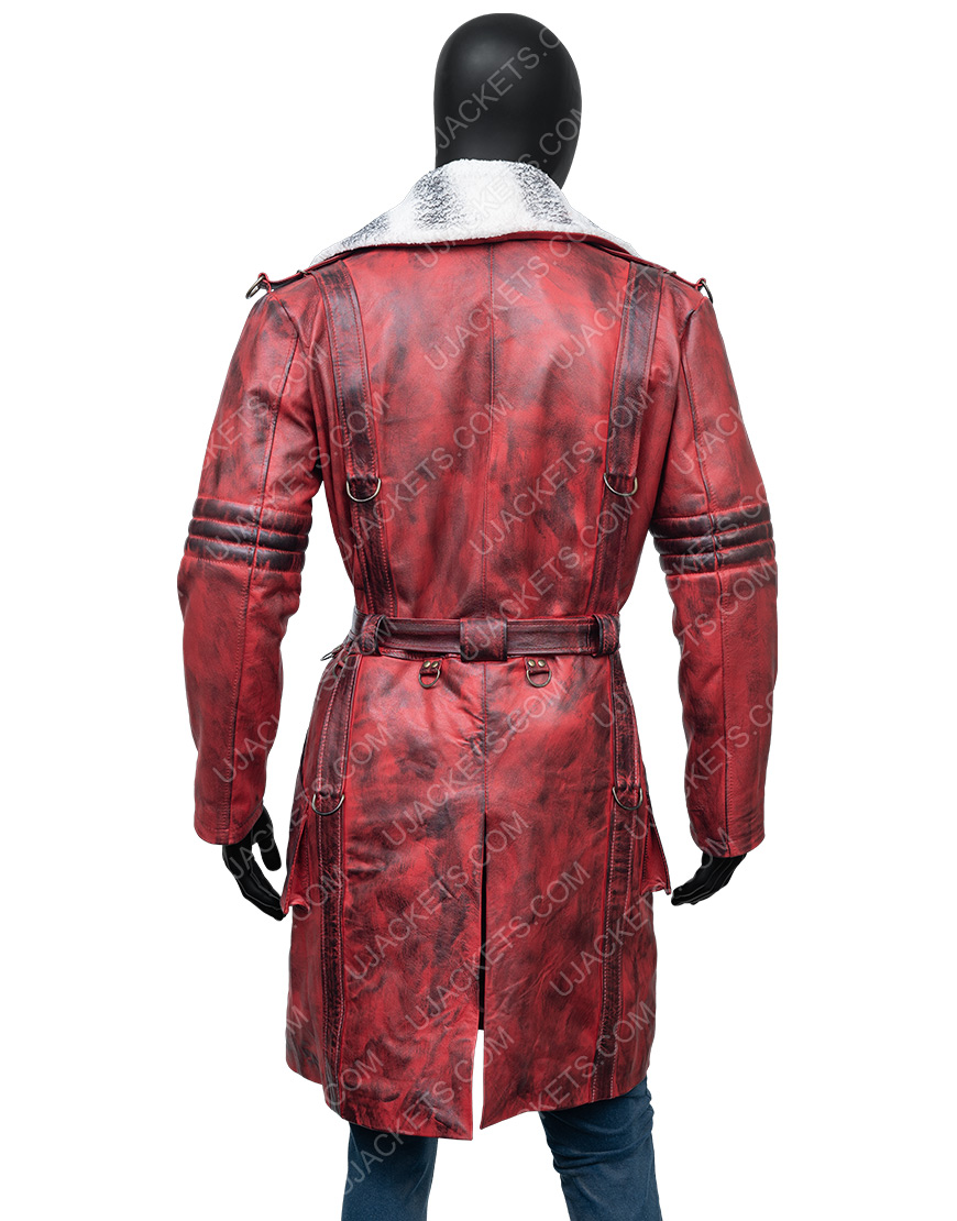 Maxson's Battle Fallout 4 Nuka Raider Red Leather Trench Coat