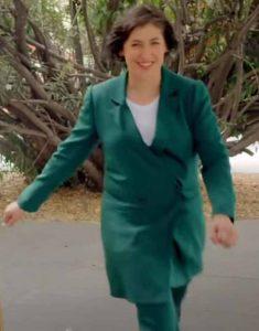 Mayim-Bialik-Call-Me-Kat-Green-Coat