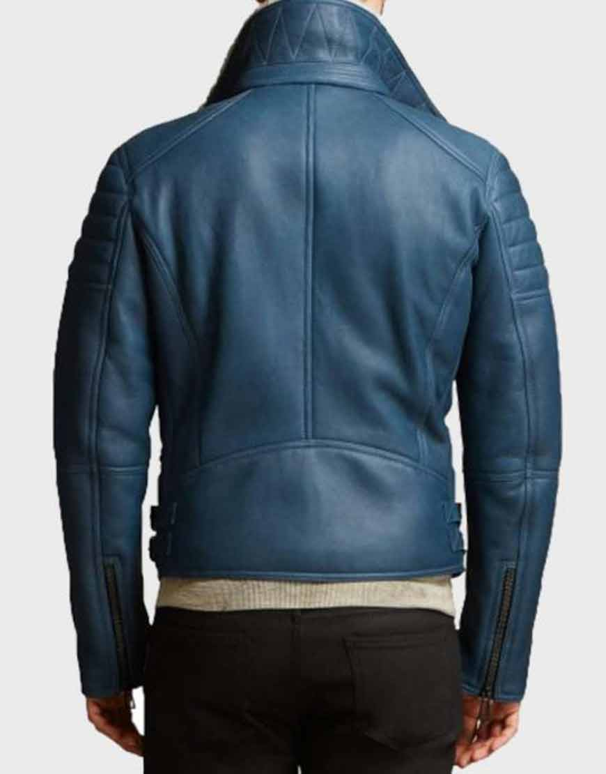 Mens-Asymmetrical-Blue-Shearling-Leather-Jacket