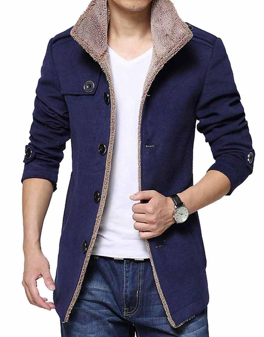 Mens-Blue-Shearling-Wool-Jacket