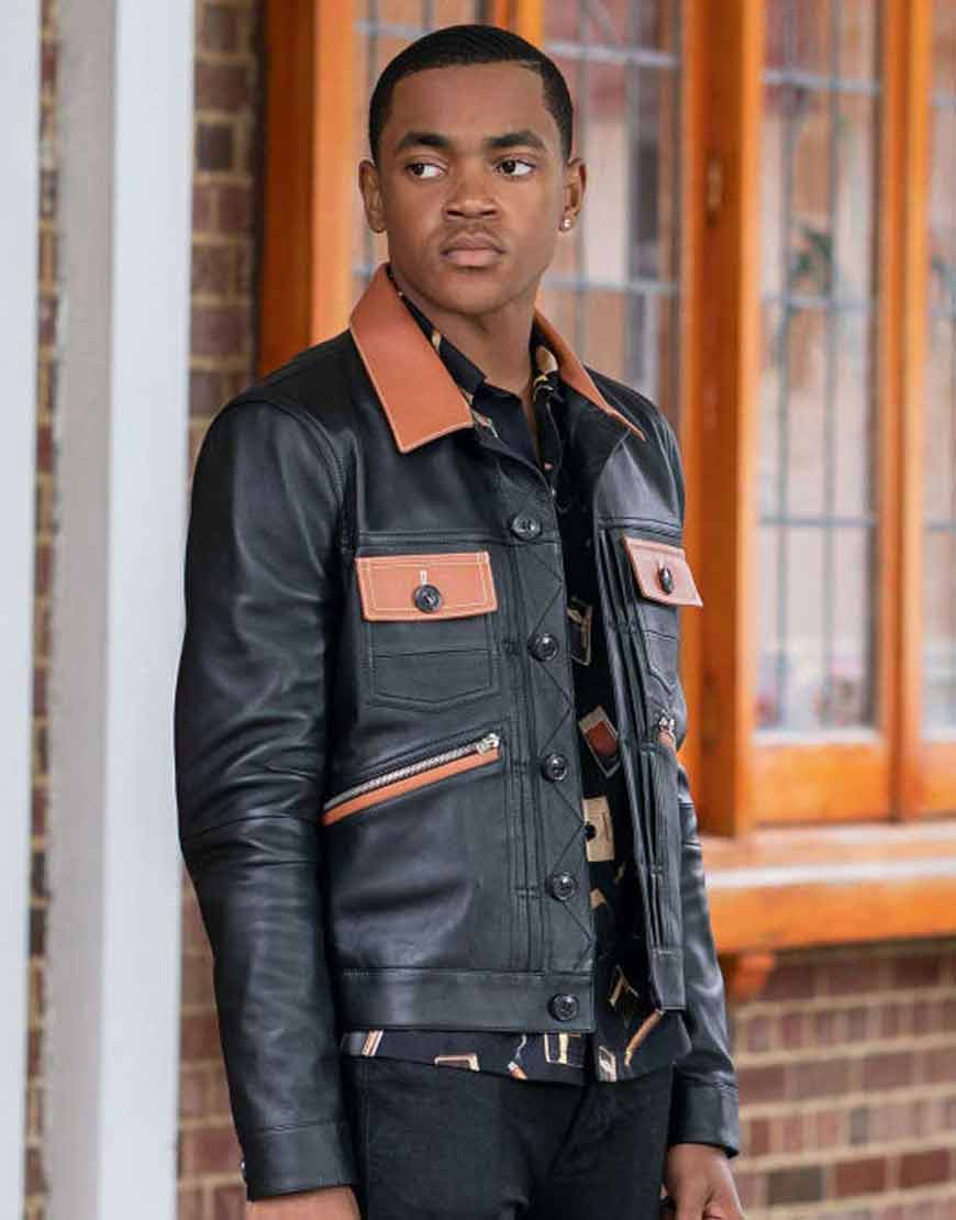 Power-Book-II-Ghost-Michael-Rainey-Jr-Black-Leather-Jacket