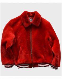 Red-Fur-Bomber-Jacket