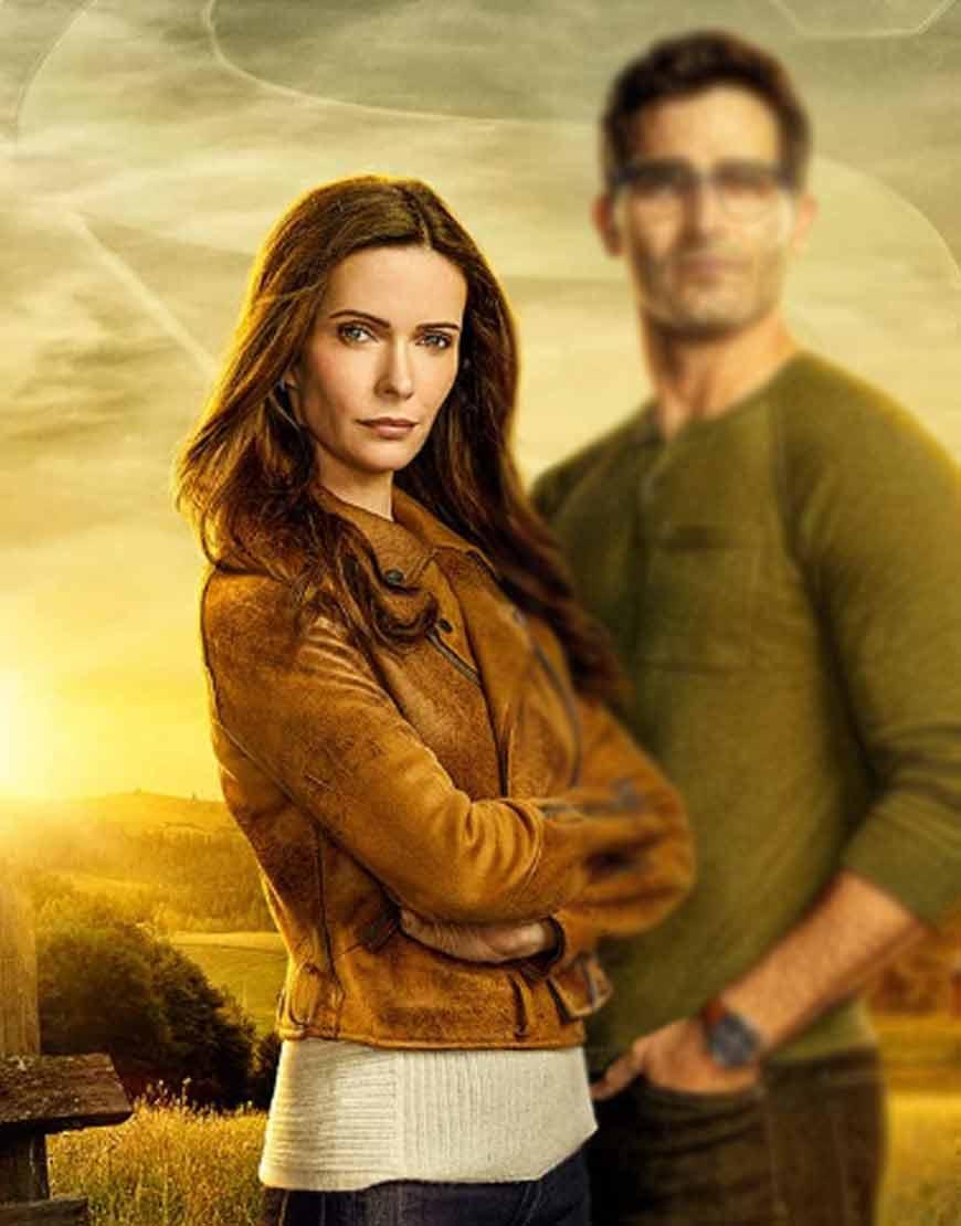 Superman-And-Lois-Elizabeth-Tulloch-Brown-Suede-Jacket