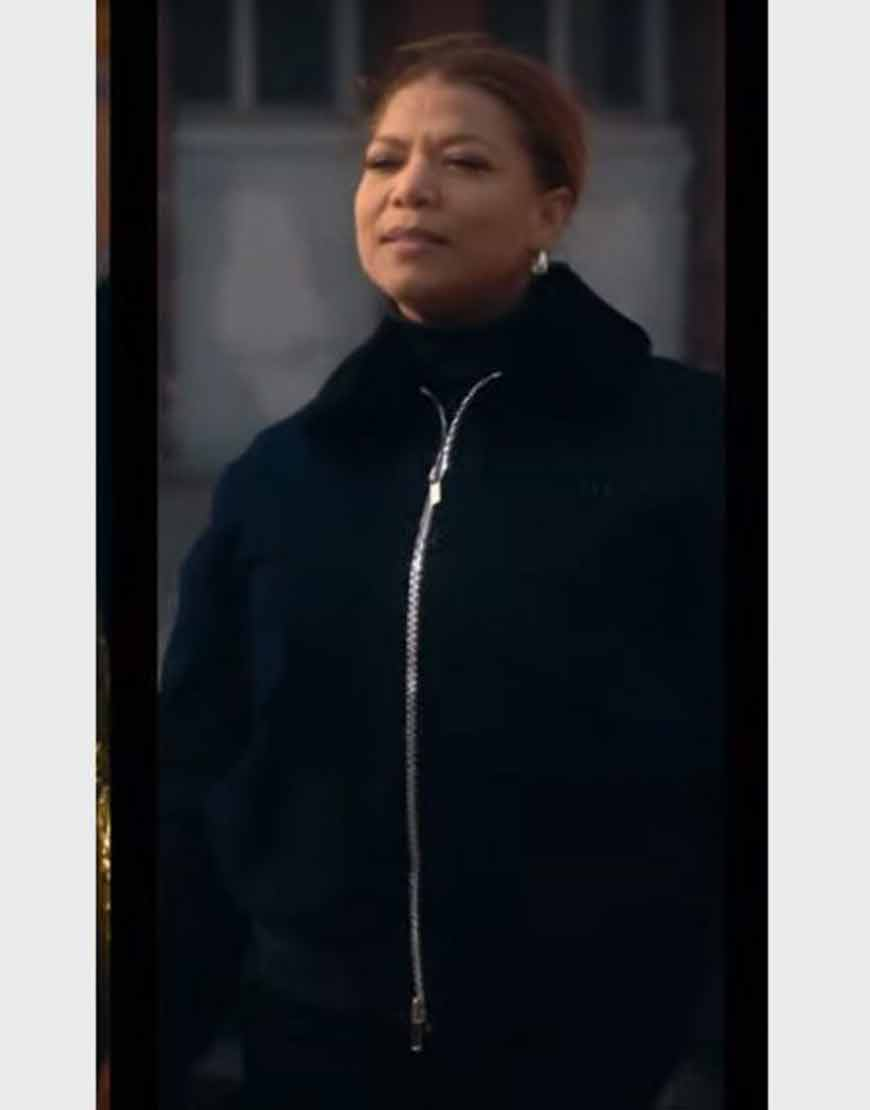 The-Equalizer-2021-Queen-Latifah-Black-Jacket-Shearling-Collar