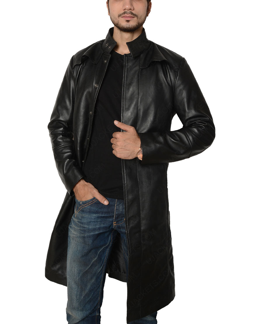The Matrix Keanu Reeves Trench Black Coat