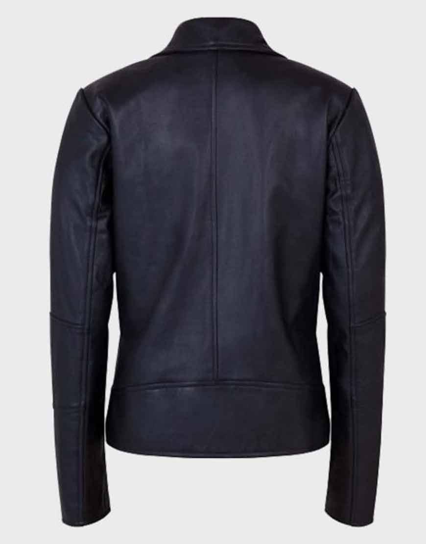 Women-Black-Leather-Shawl-Collar-Jacket