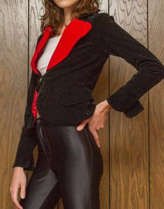Womens-Black-and-Red-Heart-Blazer