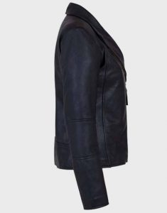 Womens-Shawl-Collar-Leather-Jacket