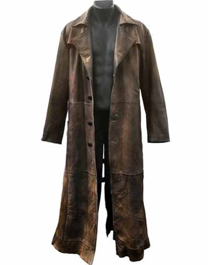 Batman-Knightmare-Future-Distressed-Brown-Leather-Coat