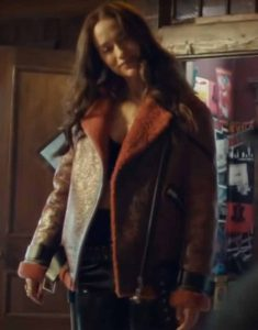 Brown-Leather-Melanie-Scrofano-Wynonna-Earp-S04-Shearling-Jacket