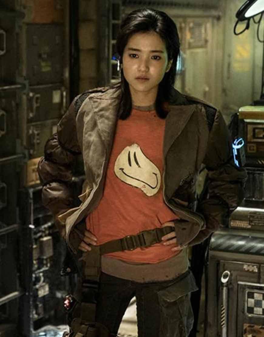 Captain-Jang-Kim-Tae-ri-Space-Sweepers-2021-Brown-Jacket