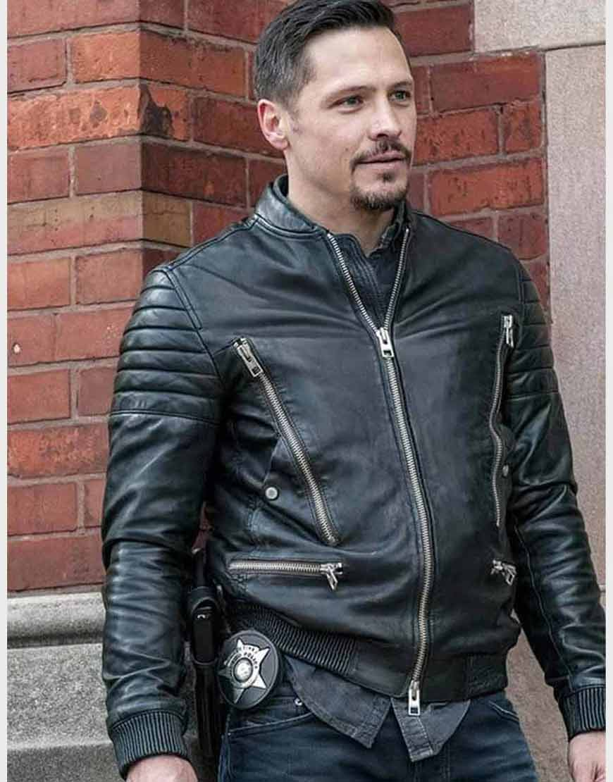 Chicago-P.D.-Kenny-Rixton-Black-Leather-Jacket