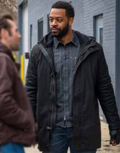 Chicago-P.D.-S07-Kevin-Atwater-Black-Hooded-Jacket