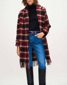 Jodie-Wool-blend-The-Drowning-2021-Jill-Halfpenny-Checked-Fringe-Coat