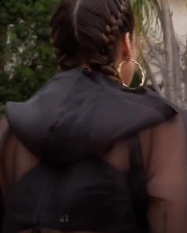 L.A.'s Finest S03 Jessica Alba Transparent Bomber Jacket