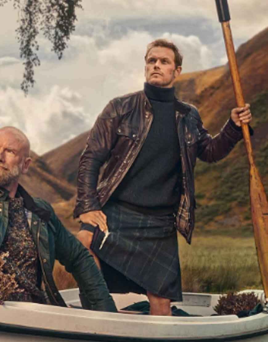 Men-in-Kilts-A-Roadtrip-with-Sam-and-Graham-Sam-Heughan-Leather-Jacket