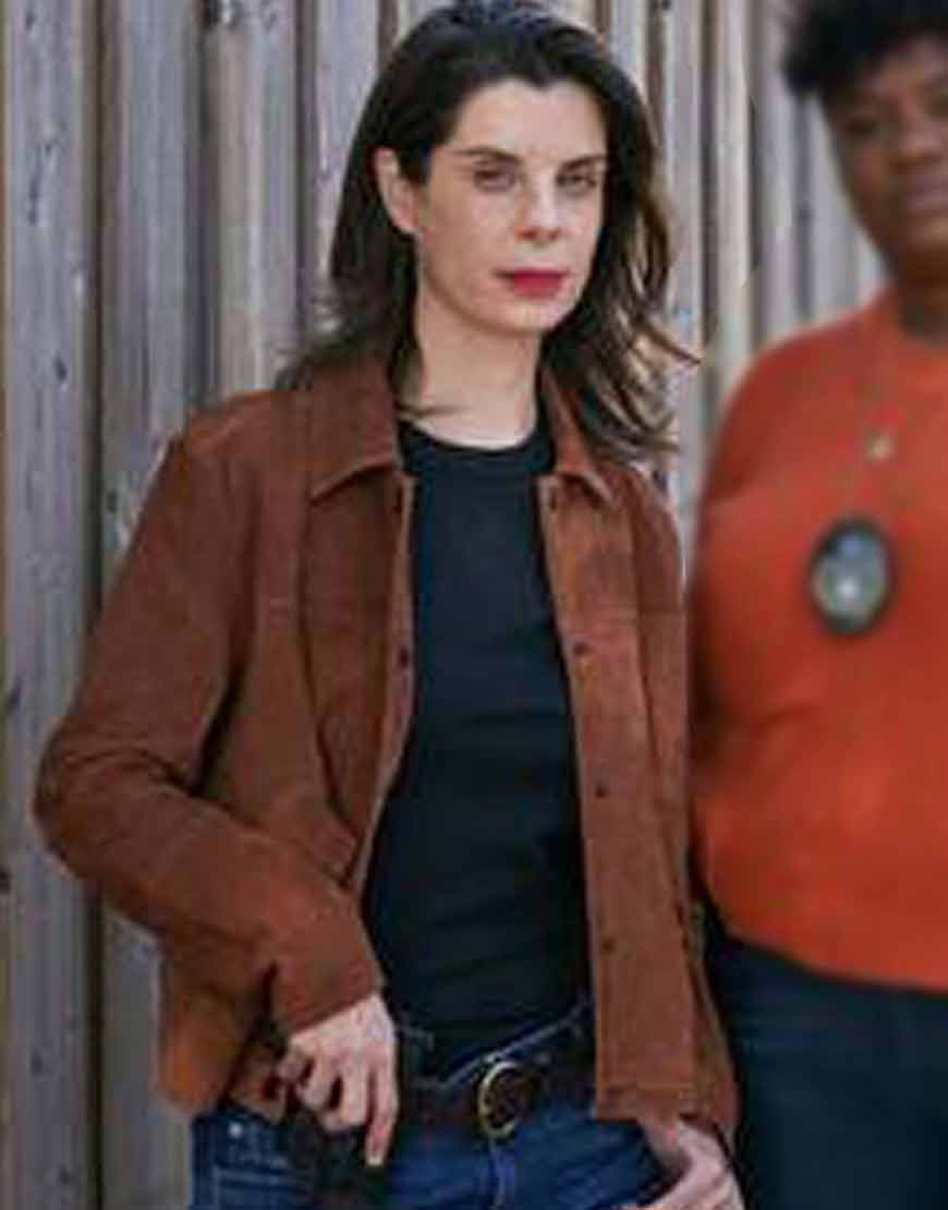 Meredith-MacNeill-Pretty-Hard-Cases-2021-Suede-Leather-Jacket