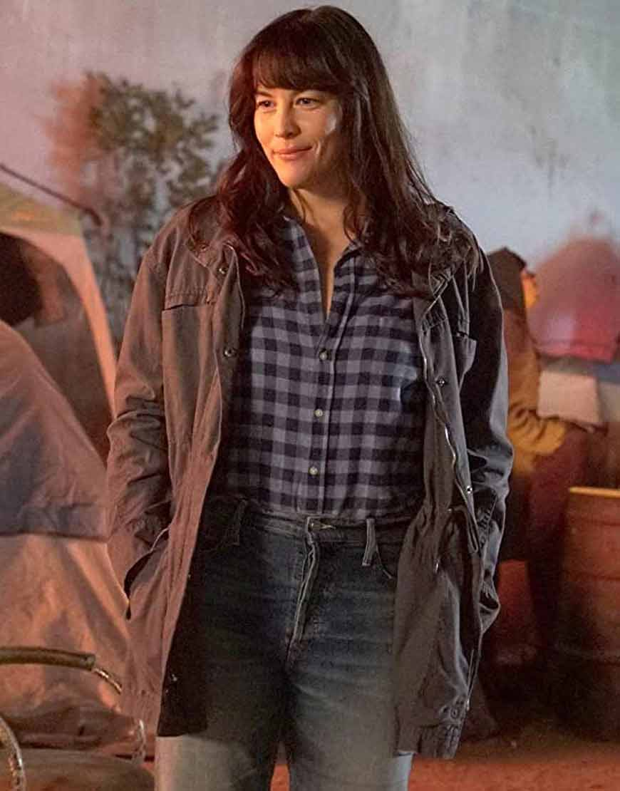 Michelle-Blake-TV-Series-911-Lone-Star--Cotton-Jacket