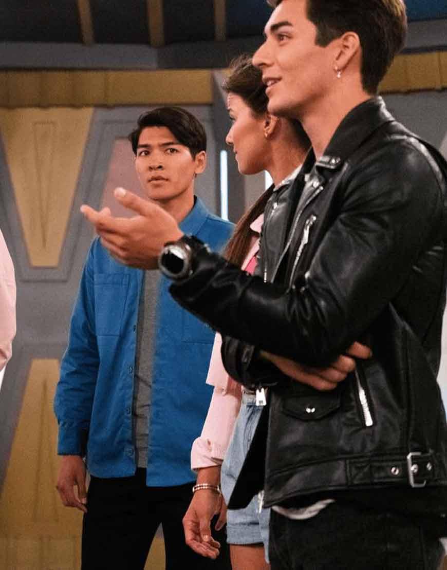 Power-Rangers-Dino-Fury-2021-Javier-Garcia-Black-Leather-Jacket
