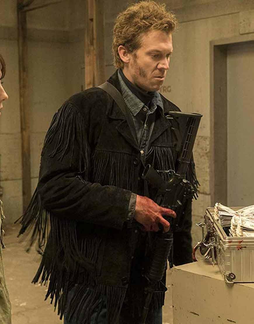 Russell-Harvard-Fargo-Black-Suede-Leather-Fringe-Jacket