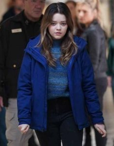 TV-Series-Big-Sky-2021-Grace-Sullivan-Blue-Cotton-Jacket