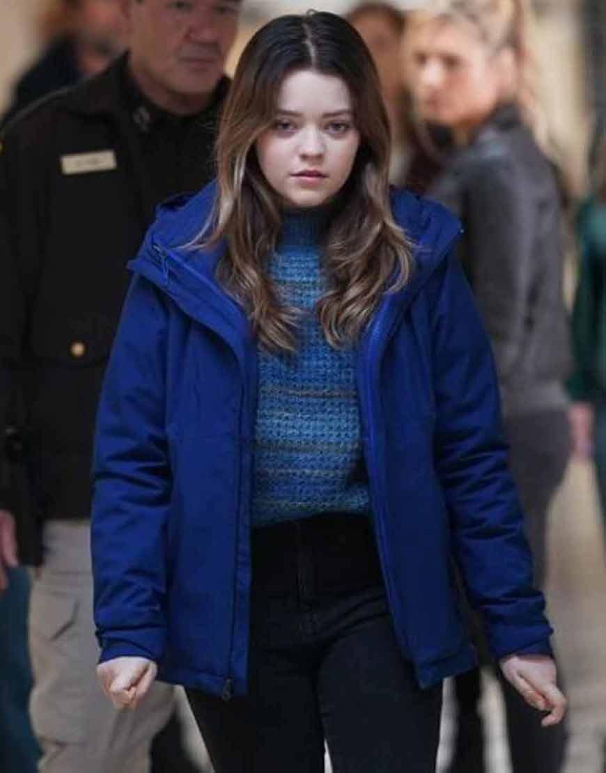 TV-Series-Big-Sky-2021-Grace-Sullivan-Blue-Cotton-Jacket