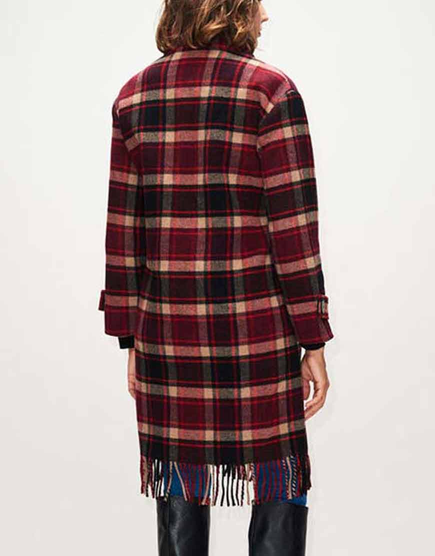 The-Drowning-2021-Jill-Halfpenny-Checked-Fringe-Coat