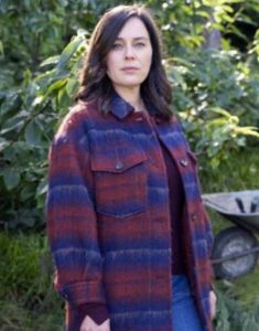 The-Drowning-2021-Jill-Halfpenny-Checked-Woolen-Coat