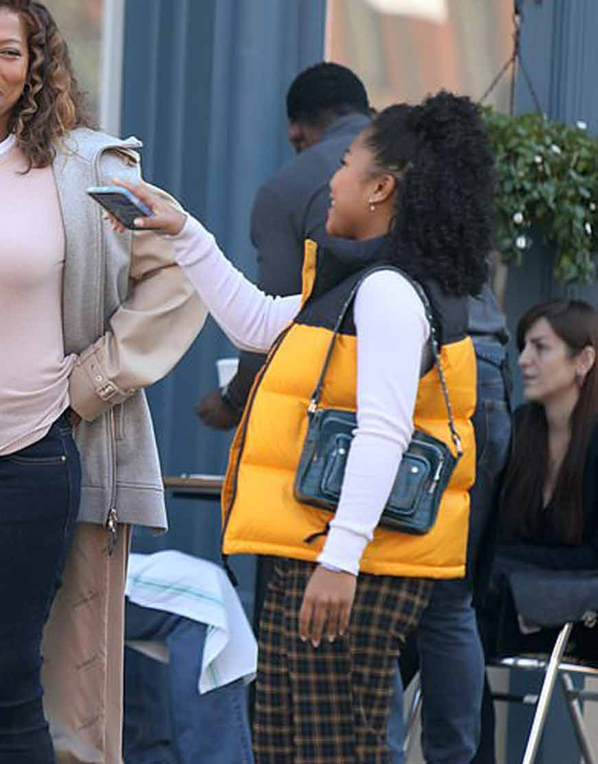 The-Equalizer-2021-Laya-DeLeon-Hayes-Yellow-Puffer-Vest