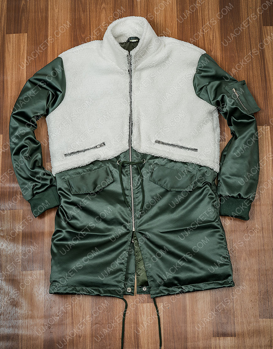 The Equalizer 2021 Queen Latifah Green & White Coat