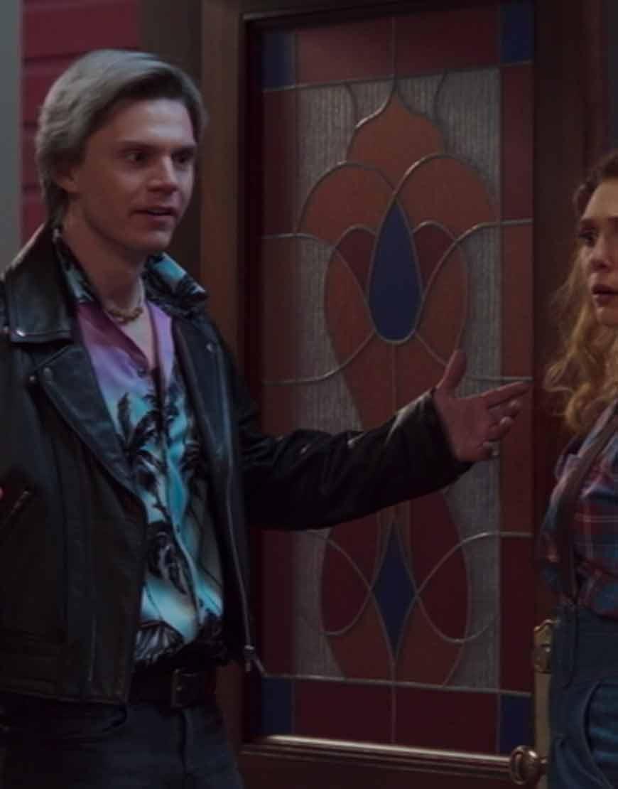 WandaVision-2021-Evan-Peters-Black-Leather-Jacket