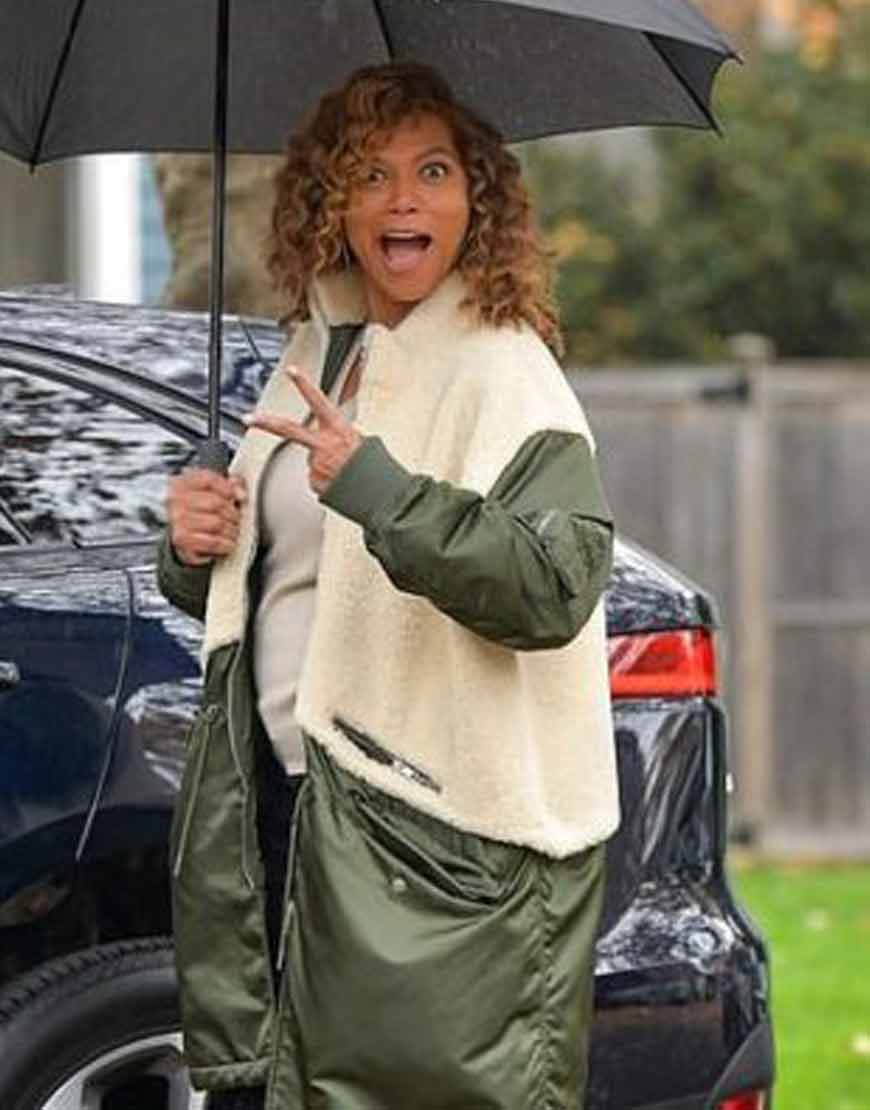 the-equalizer-queen-latifah-green-white-coat-