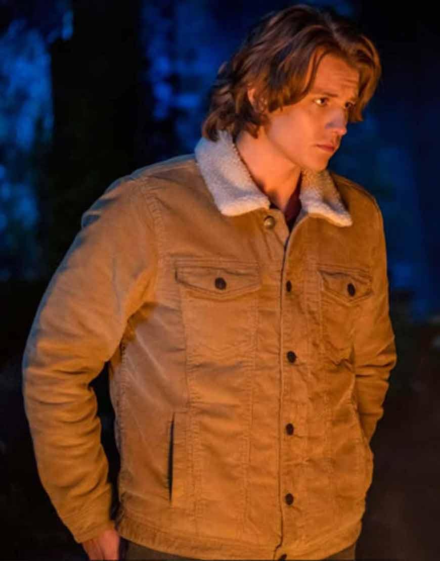 Alex-Saxon-TV-series-Nancy-Drew-Ace-Brown-Fur-Collar-Jacket