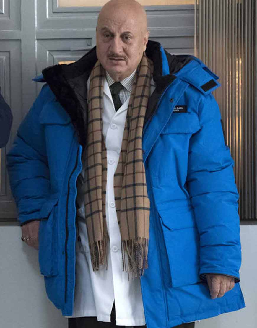Anupam-Kher-New-Amsterdam-2021-Dr.-Vijay-Kapoor-Blue-Hooded-Jacket