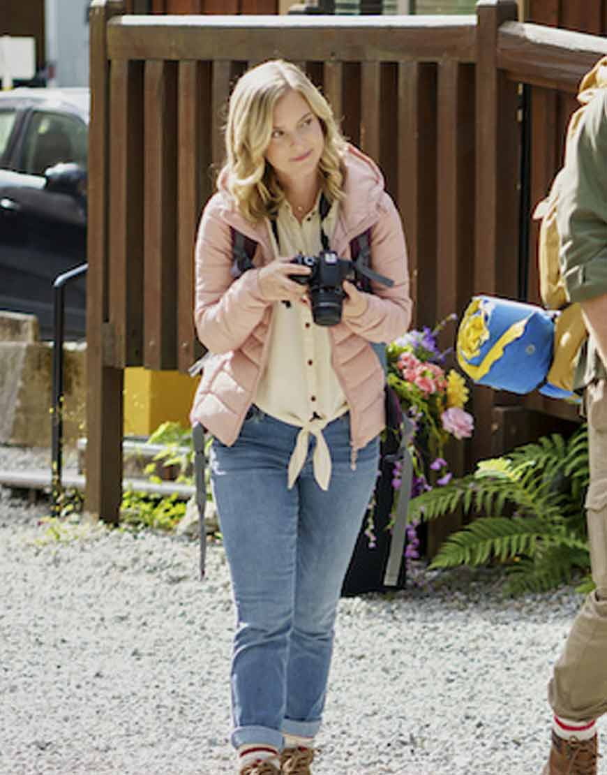 Chasing-Waterfalls-2021--Cindy-Busby-Pink-Hooded-Puffer-Jacket
