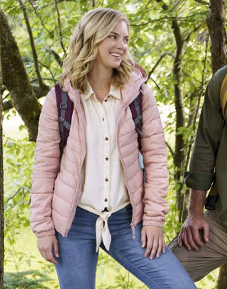 Chasing-Waterfalls-2021--Cindy-Busby-Pink-Puffer-Jacket