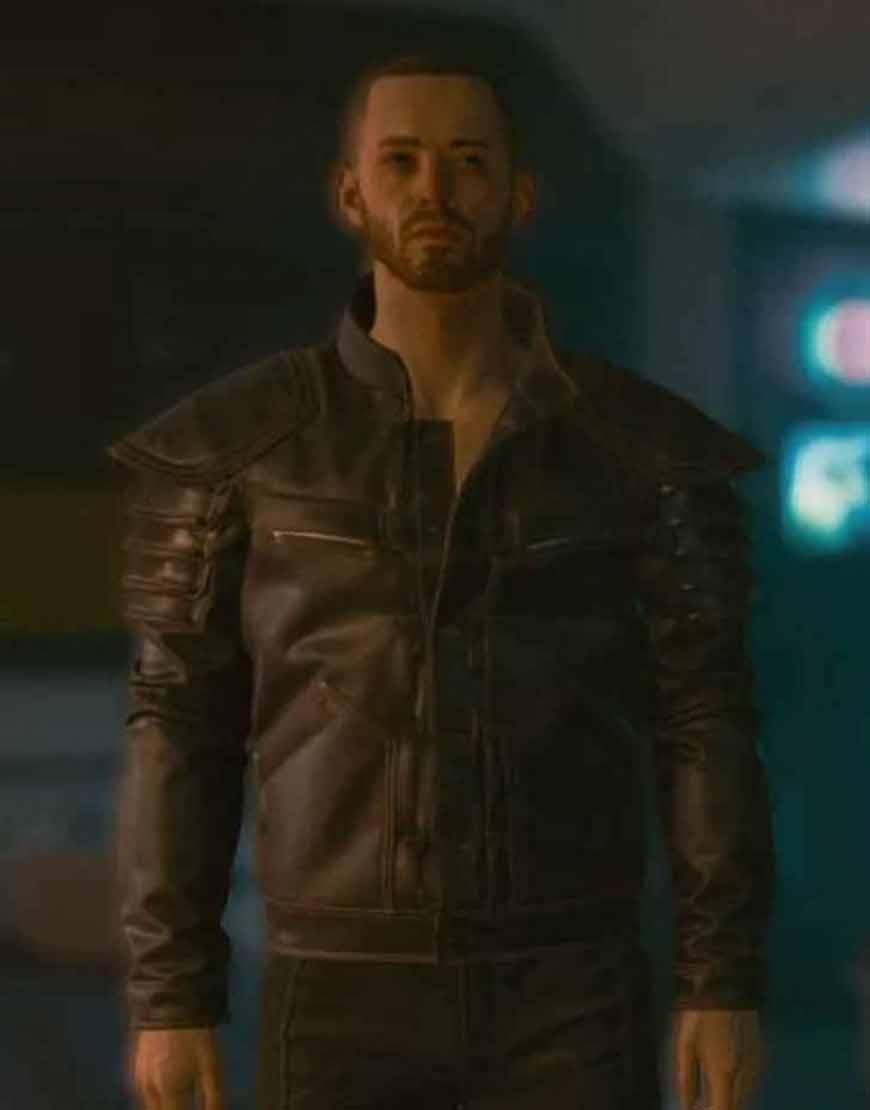 Cyberpunk-2077-Wolf-School--Witcher-Gear-Brown-Leather-Jacket