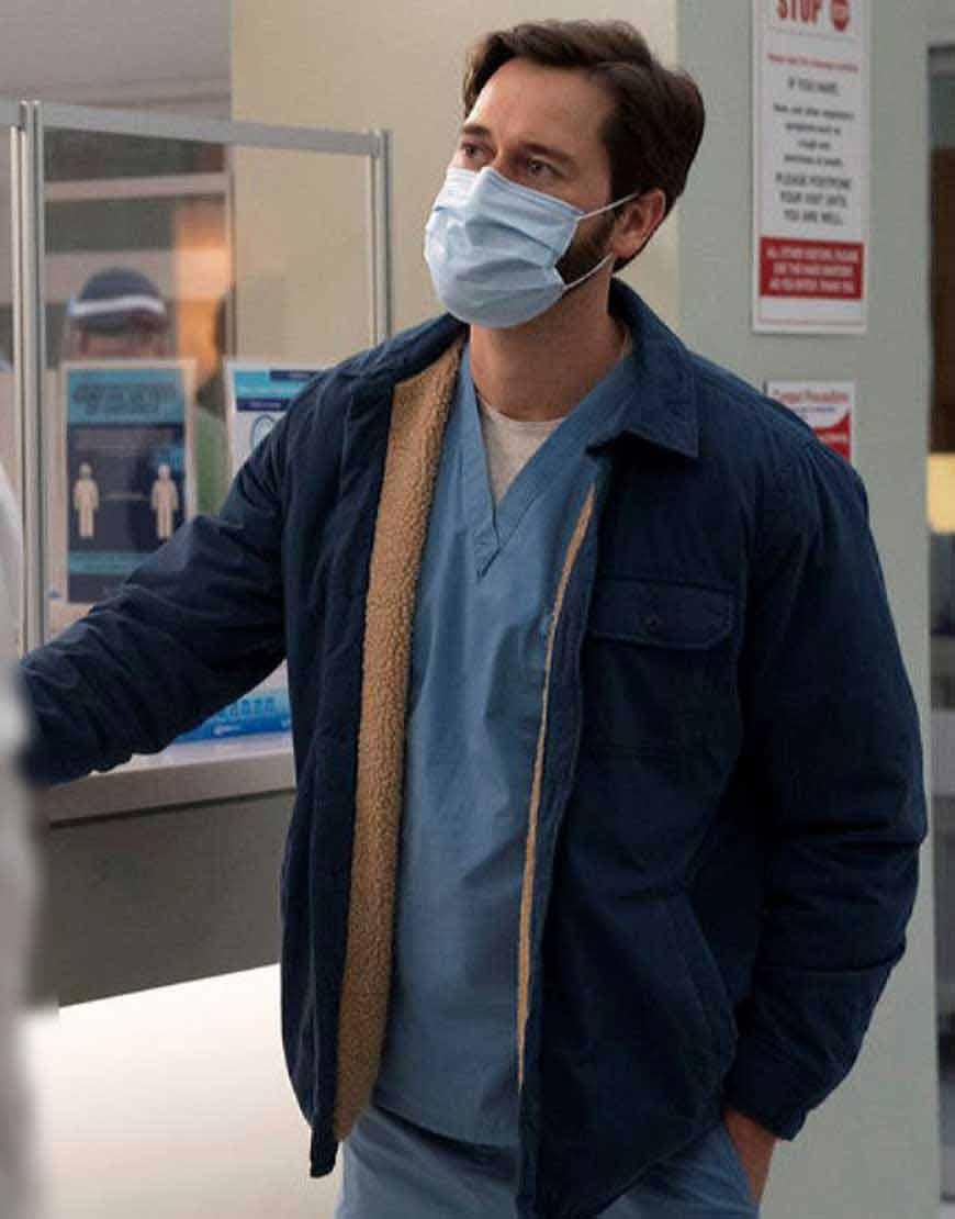 Dr.-Max-Goodwin-New-Amsterdam-Ryan-Eggold-Blue-Jacket