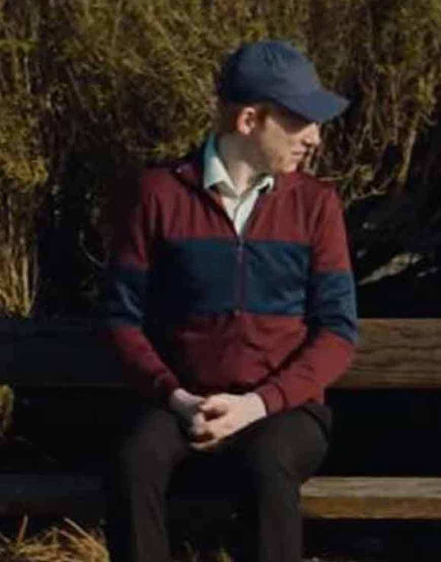 Frank-Of-Ireland-2021-Domhnall-Gleeson-Maroon-Jacket