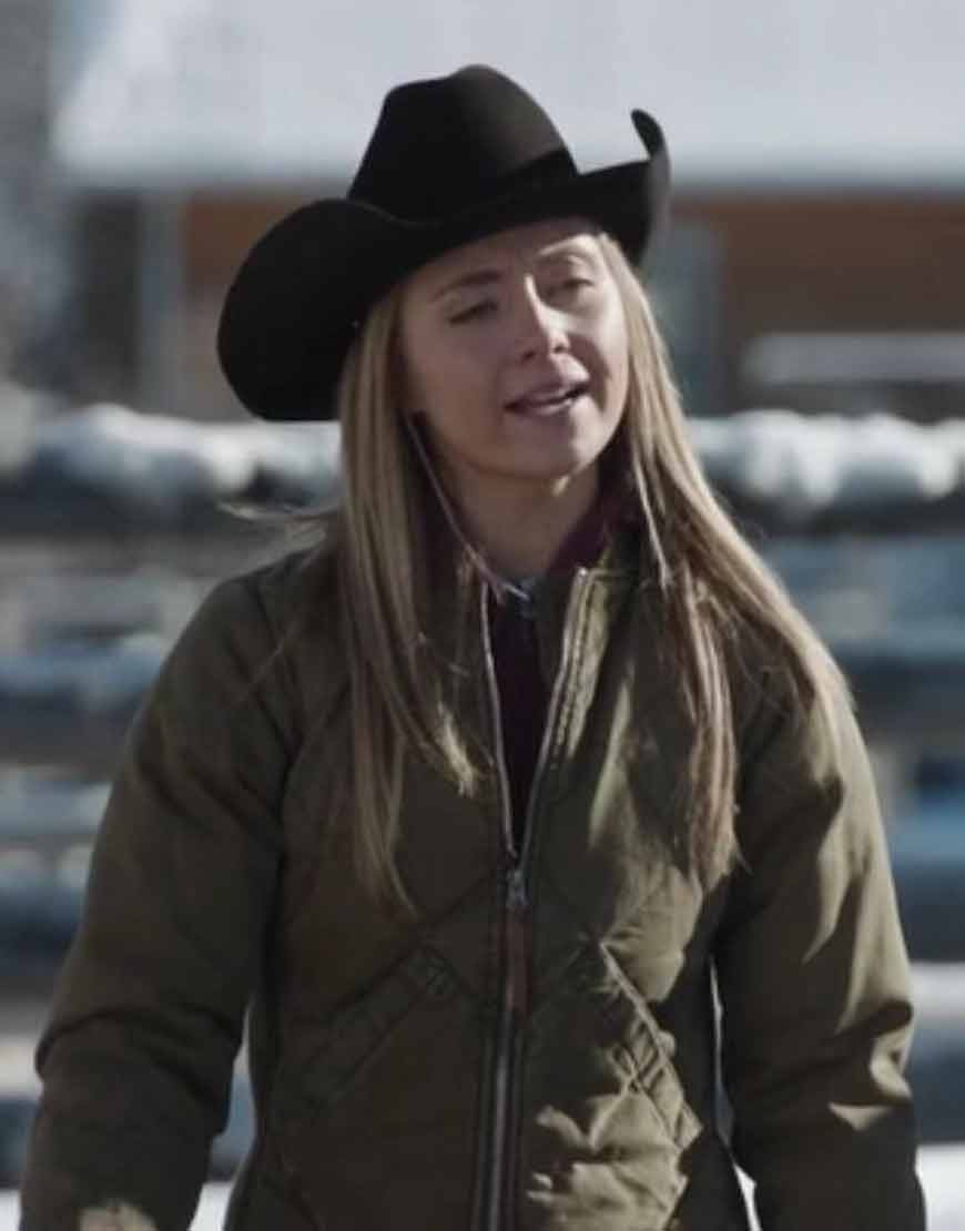 Heartland-Amy-Fleming-Brown-Quilted-Jacket